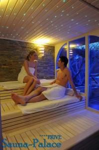 de privé sauna sauna van binnen, ècht privé en heerlijk voor twee